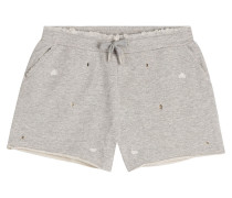 Baumwoll-Shorts im Distressed-Look