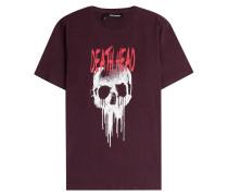 Baumwoll-Shirt mit Totenkopf-Print