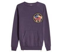 Besticktes Sweatshirt aus Baumwolle mit Zippern