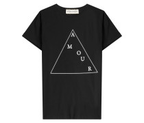 T-Shirt Amour aus Baumwolle