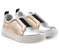 Slip-Ons mit Metallic-Finish