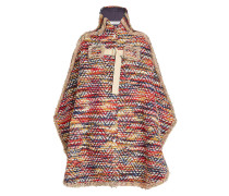 Besticktes Cape aus Tweed