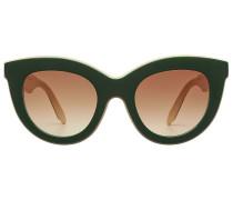 Zweifarbige Sonnenbrille Layered Cat