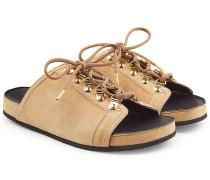 Sandalen aus Leder mit Schnürdetails