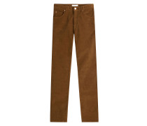 Straight Leg Pants aus Cord