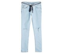 Straight Leg Jeans aus Baumwolle mit Kordel