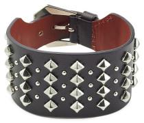 Armband aus Leder mit Nieten