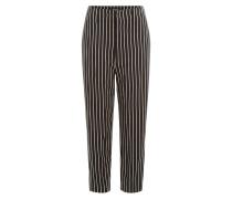 Gestreifte Cropped-Pants aus Baumwoll-Twill