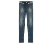 Slim-Jeans aus Baumwoll-Stretch