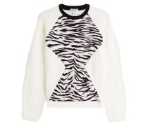 Wollpullover mit Animal-Muster
