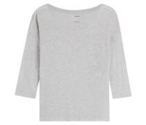 7/8-Arm-Shirt aus Leinen und Seide