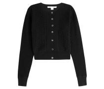 Strick-Cardigan mit Seide, Baumwolle und Muster