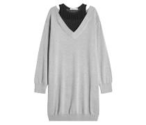 Sweater Dress mit Baumwolle und Mesh