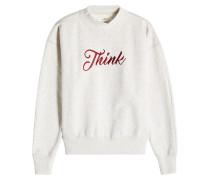 Besticktes Sweatshirt aus Baumwolle mit Stehkragen
