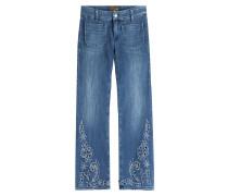 Cropped Jeans Lord Jim mit Lochstickerei