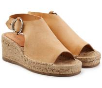 Espadrille-Sandalen aus Veloursleder