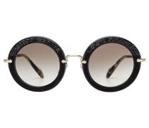 Sonnenbrille Noir mit Veloursleder