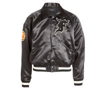 Blouson aus Satin mit Patches