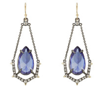 Ohrhänger mit Kristallen und Gliederketten