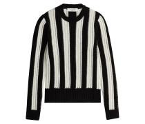 Gestreifter Pullover aus Schurwolle und Kaschmir