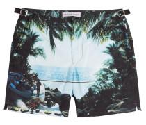 Bade-Shorts Bulldog Hulton mit Print