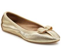 Ballerinas aus Leder im Metallic-Look