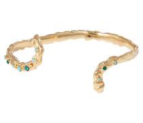 24kt goldbeschichtetes Armband Liane mit Glasperlen