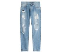 Slim-Jeans mit Distressed-Effekten