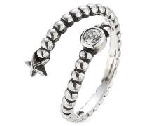 Ring Gamma aus Sterlingsilber mit weißem Topas