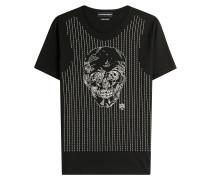 Besticktes Baumwoll-Shirt