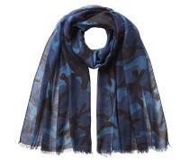 Camouflage-Schal mit Kaschmir und Seide