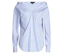 Bluse aus Baumwolle mit Bardot-Ausschnitt