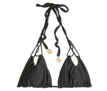 Wendbares Triangel-Bikini-Top mit geflochtenen Bändern