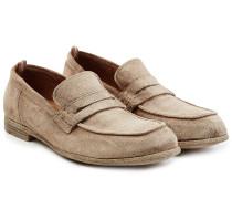 Penny Loafers aus Veloursleder