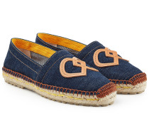 Denim-Espadrilles mit Patches