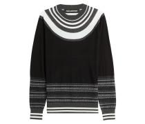 Gestreifter Pullover aus Merinowolle