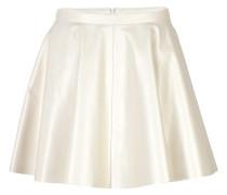 Flared-Skirt aus Leder