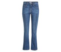 Flared Jeans mit Ziernähten