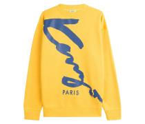 Print-Sweatshirt im Two-Tone-Look