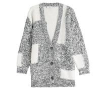 Strick-Cardigan aus Baumwolle im Patchwork-Look