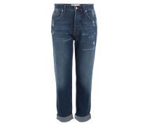 Weite Straight-Leg Jeans mit Used-Effekten