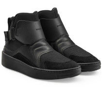 High Top Sneakers aus Leder, Mesh und Neopren