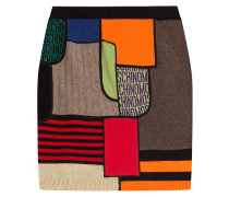 Color-Block-Skirt aus Schurwolle