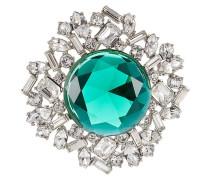 Kristallbrosche mit geschliffenem Stein