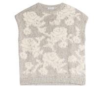 Strick-Top mit floralem Muster