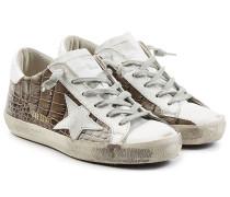 Sneakers Super Star aus geprägtem Leder