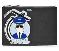 Bedruckte Clutch K/Jet Karl