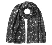 Print-Schal aus Seiden-Jersey
