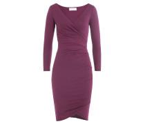 Drapiertes Kleid aus Baumwoll-Stretch