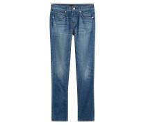 Straight-Leg-Jeans mit Used-Effekten
